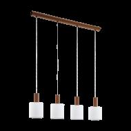 Závěsné osvětlení se čtyřmi bílými textilními stínítky CONCESSA 3 97679
