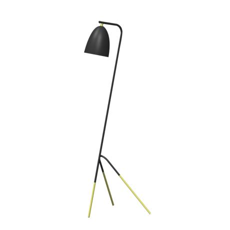Stojací lampa, černá/měděná WESTLINTON 49945