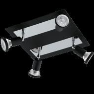 Stropní bodovka černá otočný spot SARRIA 94966