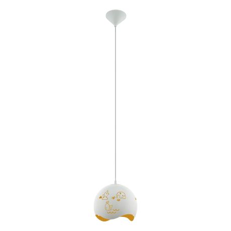 Závěsné svítidlo do dětského pokoje, bílá/žlutá LAURINA 97392