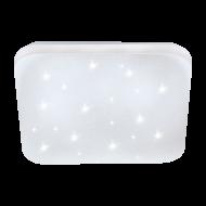 Zdobné stropní LED světlo čtvercového tvaru s délkou stran 28 cm FRANIA-S 97881