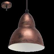 Závěsné osvětlení měď TRURO 49235