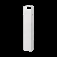 Bílý venkovní LED sloupek DONINNI 1 98268, výška 80 cm