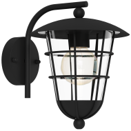 Černá nástěnná lampa / lucerna PULFERO 94841