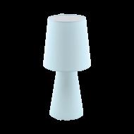 Vyšší stolní lampa z textilie, pastelově modrá CARPARA 97432