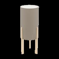 Stolní lampička, šedo-hnědé stínítko CAMPODINO 97893