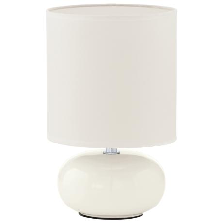 Bílá pokojová lampička z keramiky TRONDIO