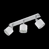 Bodové svítidlo se třemi textilními stínítky, bílá/stříbrná VALBIANO 97534